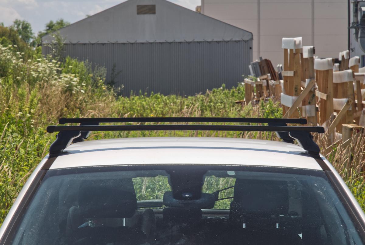 Für Opel Astra H 3 III 4-Tür 04-09 Stahl Dachträger an Befestigungspunkte S03