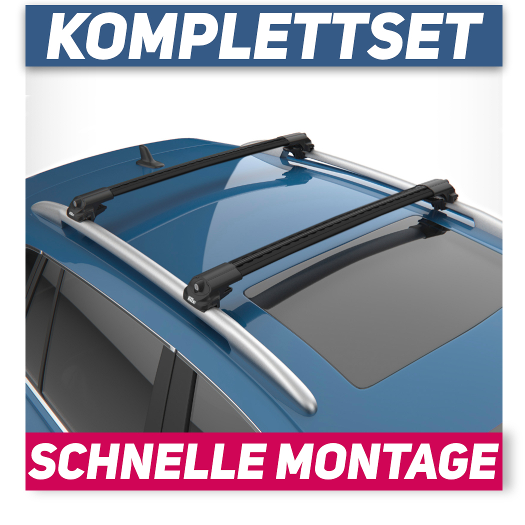 XTBL-IR Alu Schwarz Dachträger für Audi Q7 I 4L 5-Tür 06-15 kompl