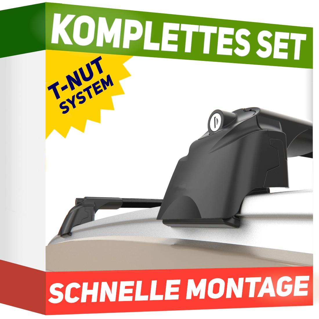 Aluminium Schwarz Dachträger für Seat Leon III 5F Kombi ab 14 kompl XT BL-IR