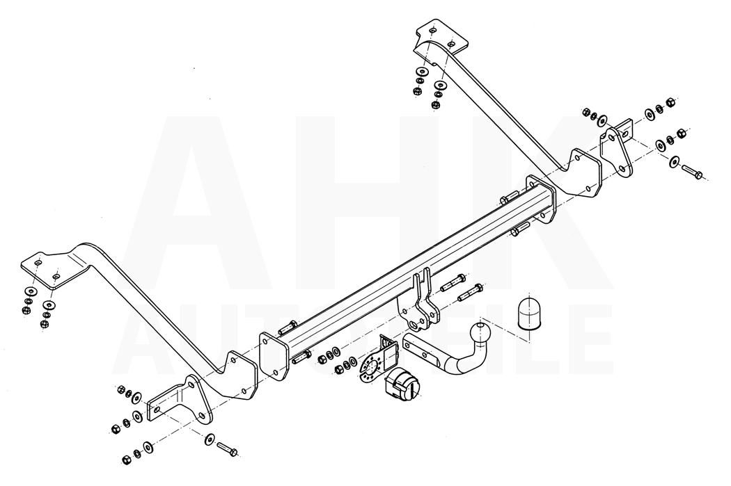 Für Citroen Berlingo II 4628 mm 11-18 Anhängerkupplung starr+E-Satz 13p spez