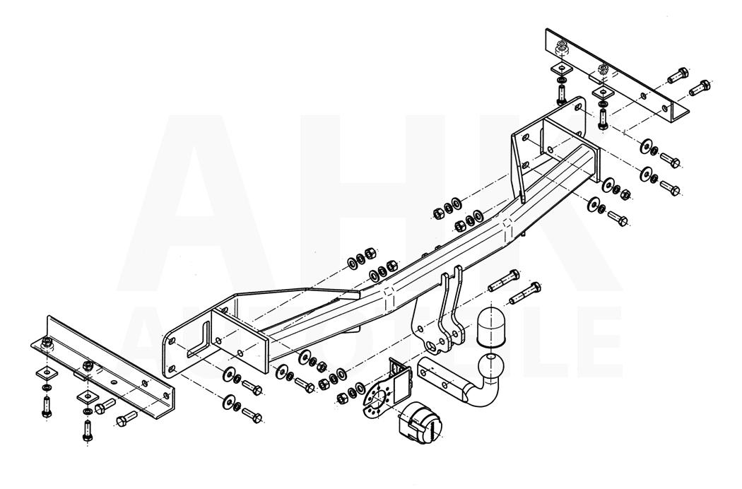 Opel Meriva A Anhängerkupplung starr+ES 7p ABE