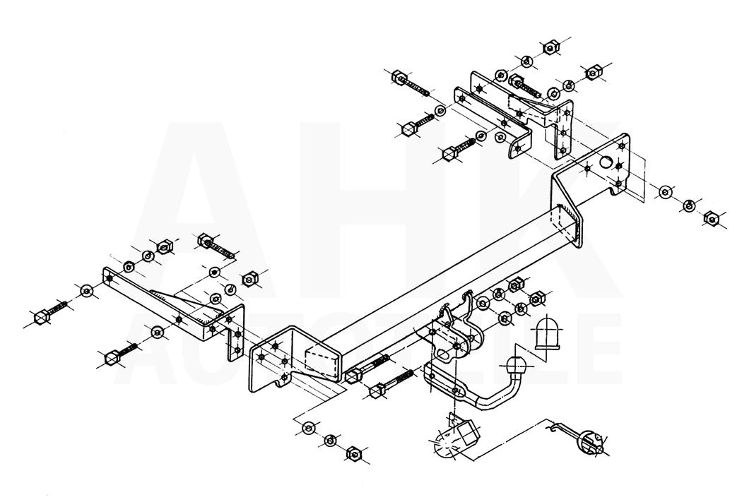 Für Renault Clio II 3//5-Tür Fließheck Anhängerkupplung starr+ES 7p ABE