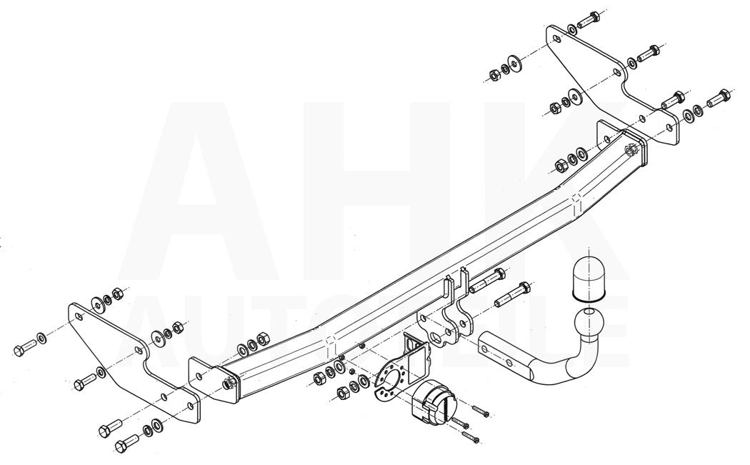 Renault-Twingo-II-3-Tuer-07-11-Kpl-Anhaengerkupplung-starr-ES-13p-uni-AHK