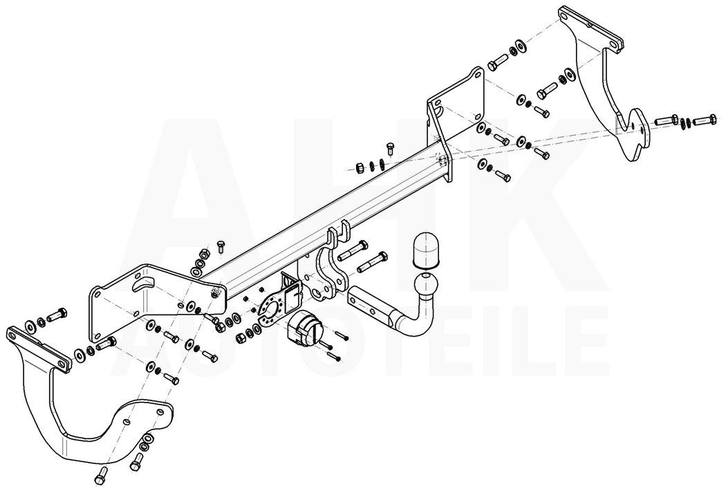 Peugeot Expert III ab 16 Anhängerkupplung starr+E-Satz 13p