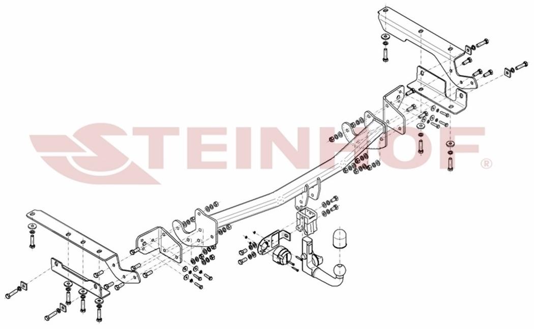 AHK Für Toyota RAV4 ohne Reserverad an der Hecktür ab 16 Anhängerkupplung abn